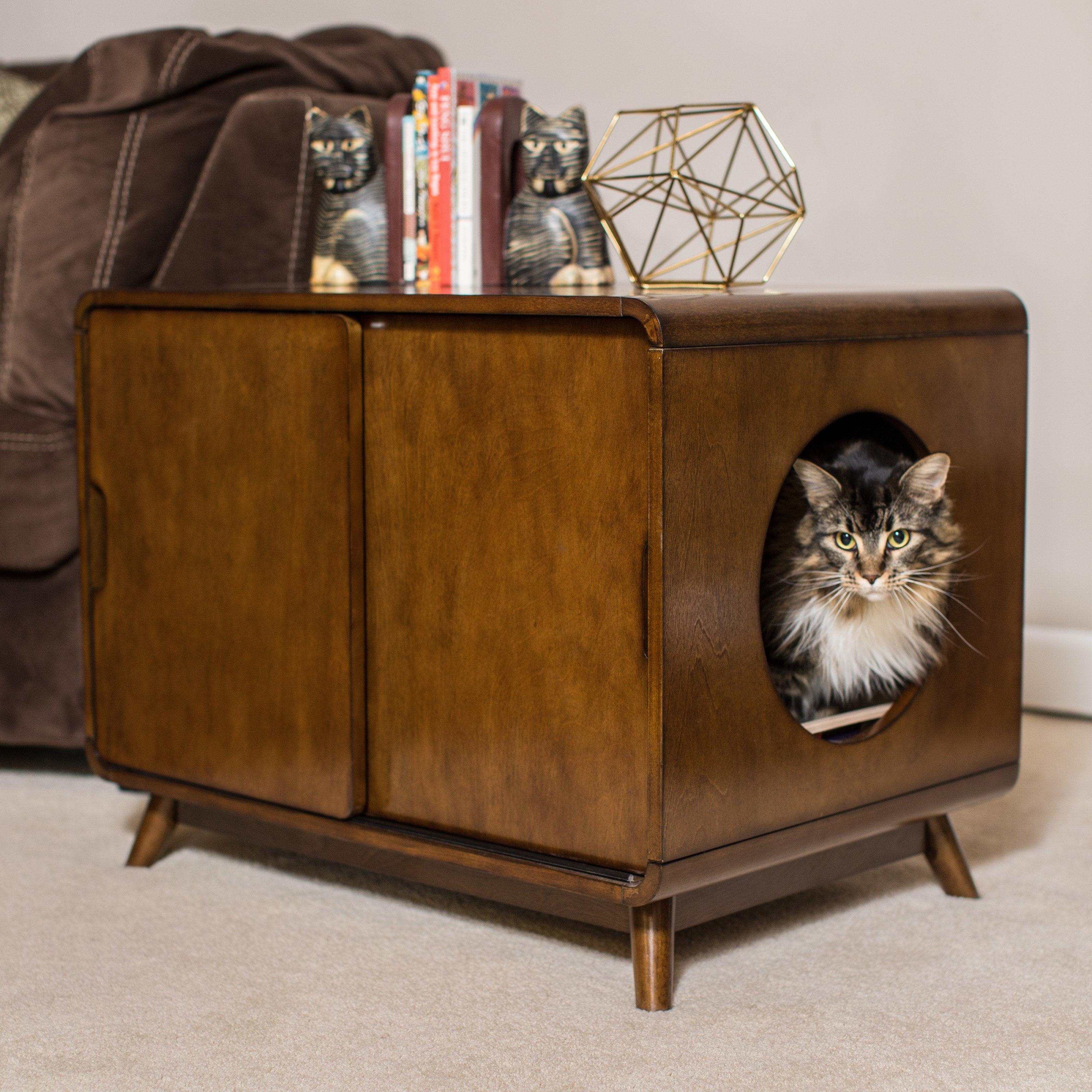 Boomer & George Carter Mid-Century Modern Cat Litter Box
