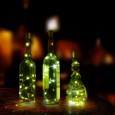 Cork shape lights,Bottle Mini String Lighting 75cm/30inch Copper Wire light Starry Light For Christmas Wedding and Party Halloween, decoration warm white color /white color /RGB multi-color