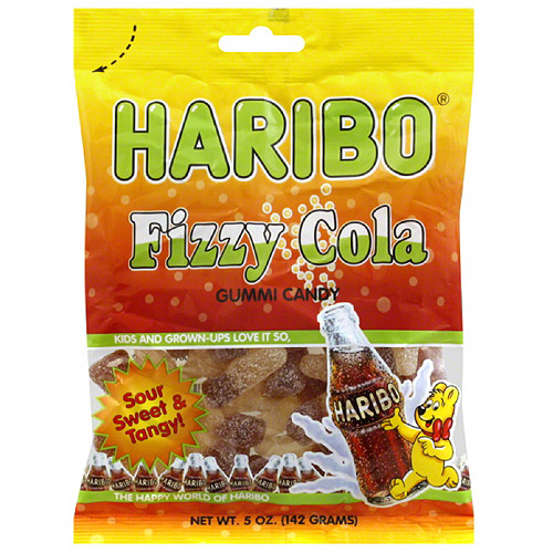 HARIBO Fizzy Cola Gummi Candy, 5 oz, (Pack of 12)