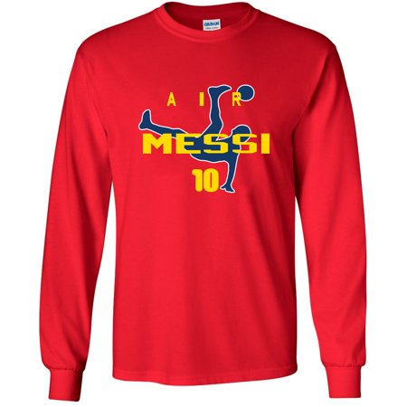 LONG SLEEVE Shedd Shirts Red Lionel Messi FC Barcelona