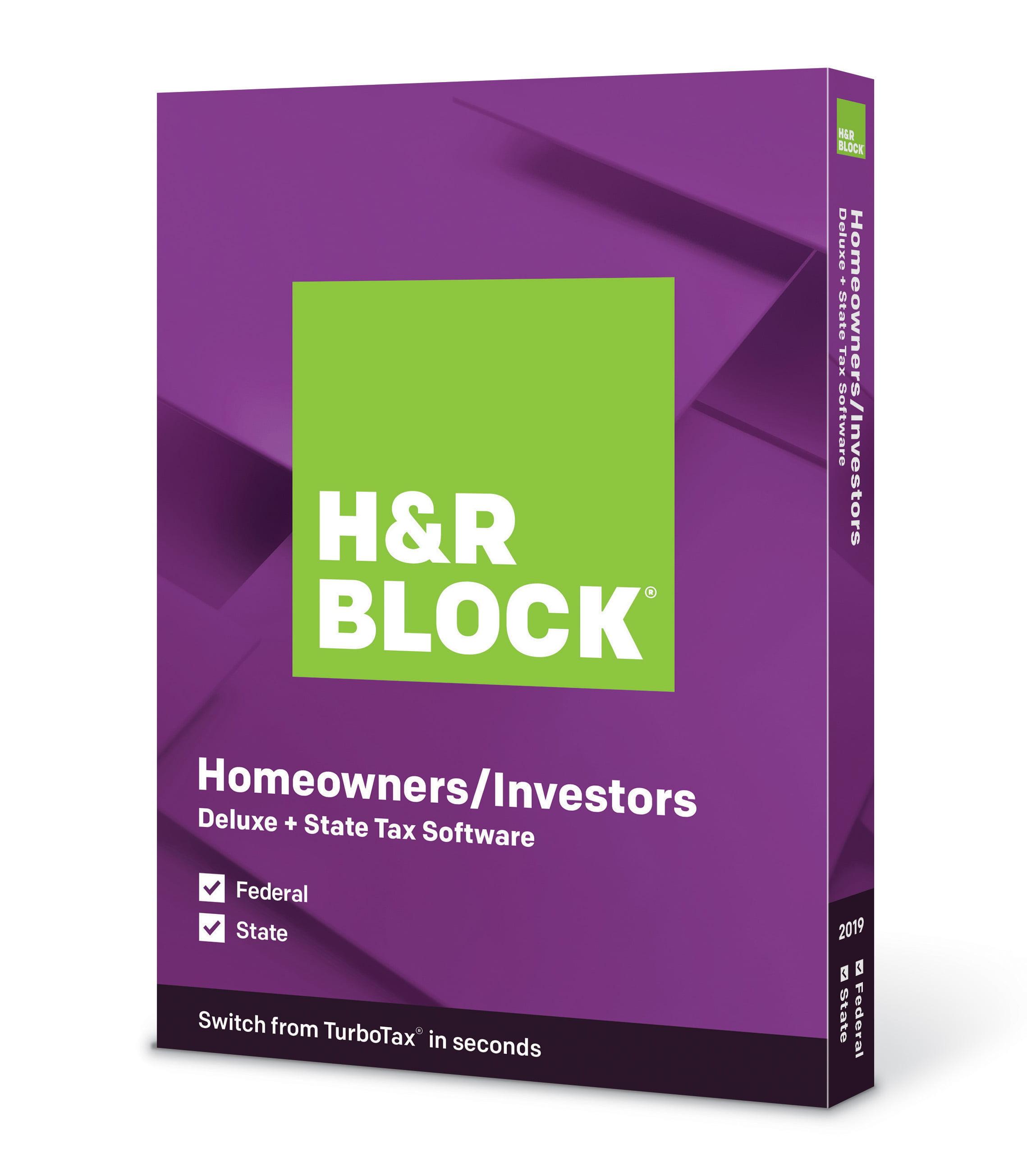 H R Block Tax Software Deluxe State 2019 Walmart Com Walmart Com