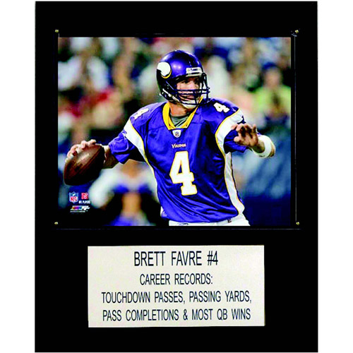 "NFL Brett Favre Minnesota Vikings Player Plaque, 12"" x 15"""