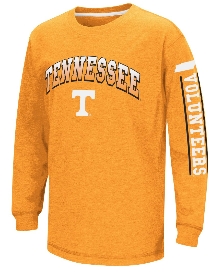 "Tennessee Volunteers NCAA ""Grandstand"" Long Sleeve Dual Blend Youth T-Shirt by Colosseum"