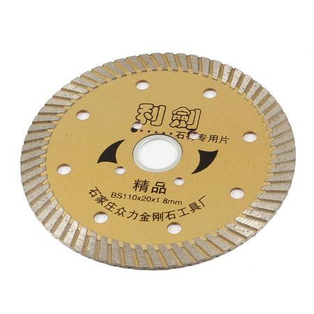 Unique Bargains 110mm x20mm x1.8mm Wheel Diamond Saw Blade for Slate Limestone Cutting ()