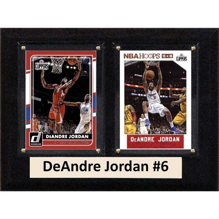 """C & I Collectables NBA 6"""" x 8"""" DeAndre Jordan Los Angeles Clippers Two-Card Plaque by"""