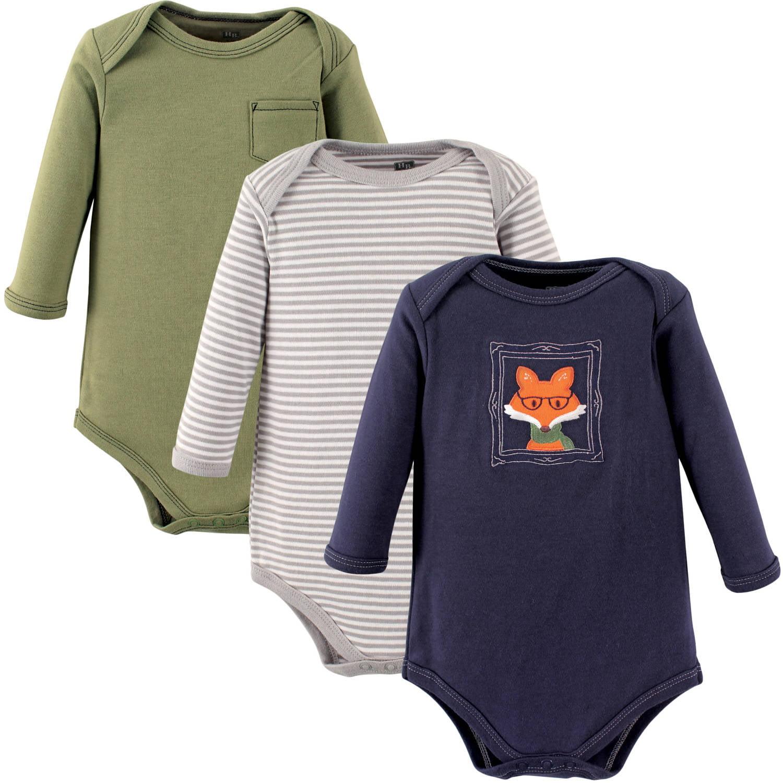 Hudson Baby Newborn Baby Boys Long Sleeve Bodysuit 3 Pack Choose