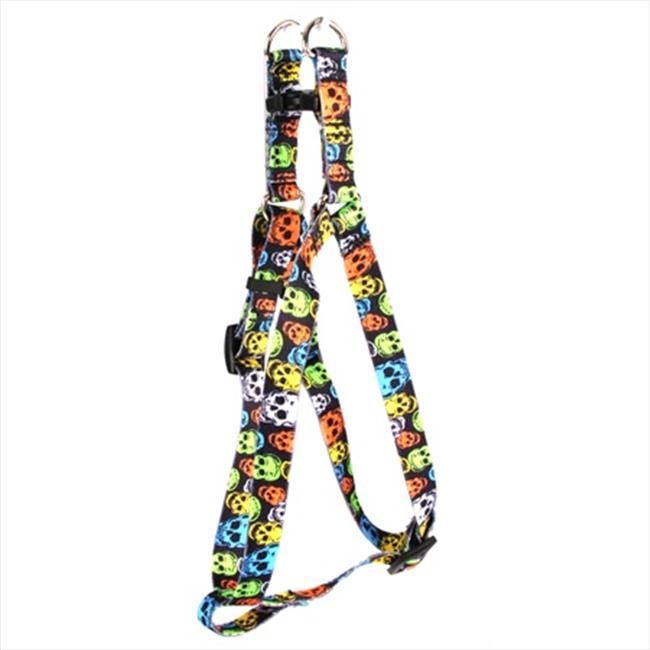Yellow Dog Design SI-NSK102M Neon Skulls Step-In Harness - Medium