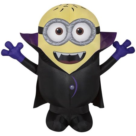 3.5' Airblown Gone Batty Minion Halloween Inflatable
