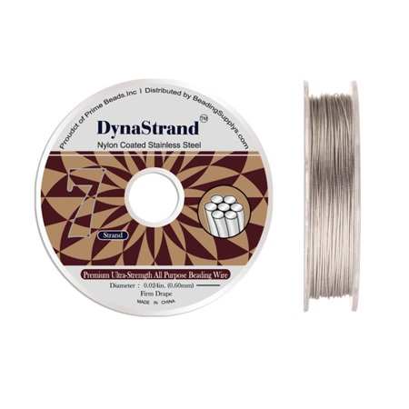 Dynastrand Beading Wire 7 Strand Firm 0.024 Inch Diameter 100 foot - 6 Strand Polywire Spool