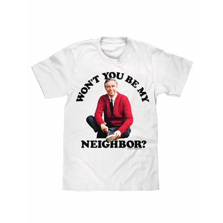 Tee Luv Mister Rogers Won't You Be My Neighbor T-Shirt (Small) ()