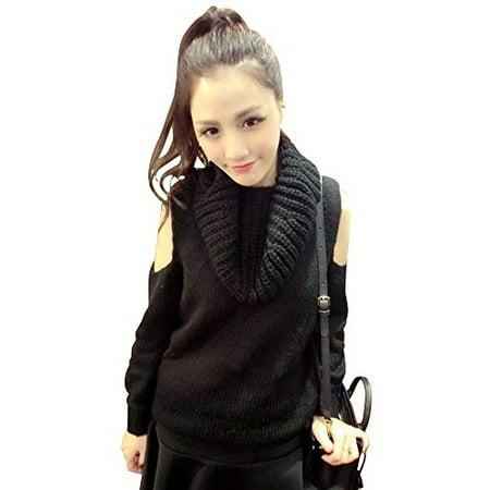 (Strapless high neck twist Day series Cute sweater)