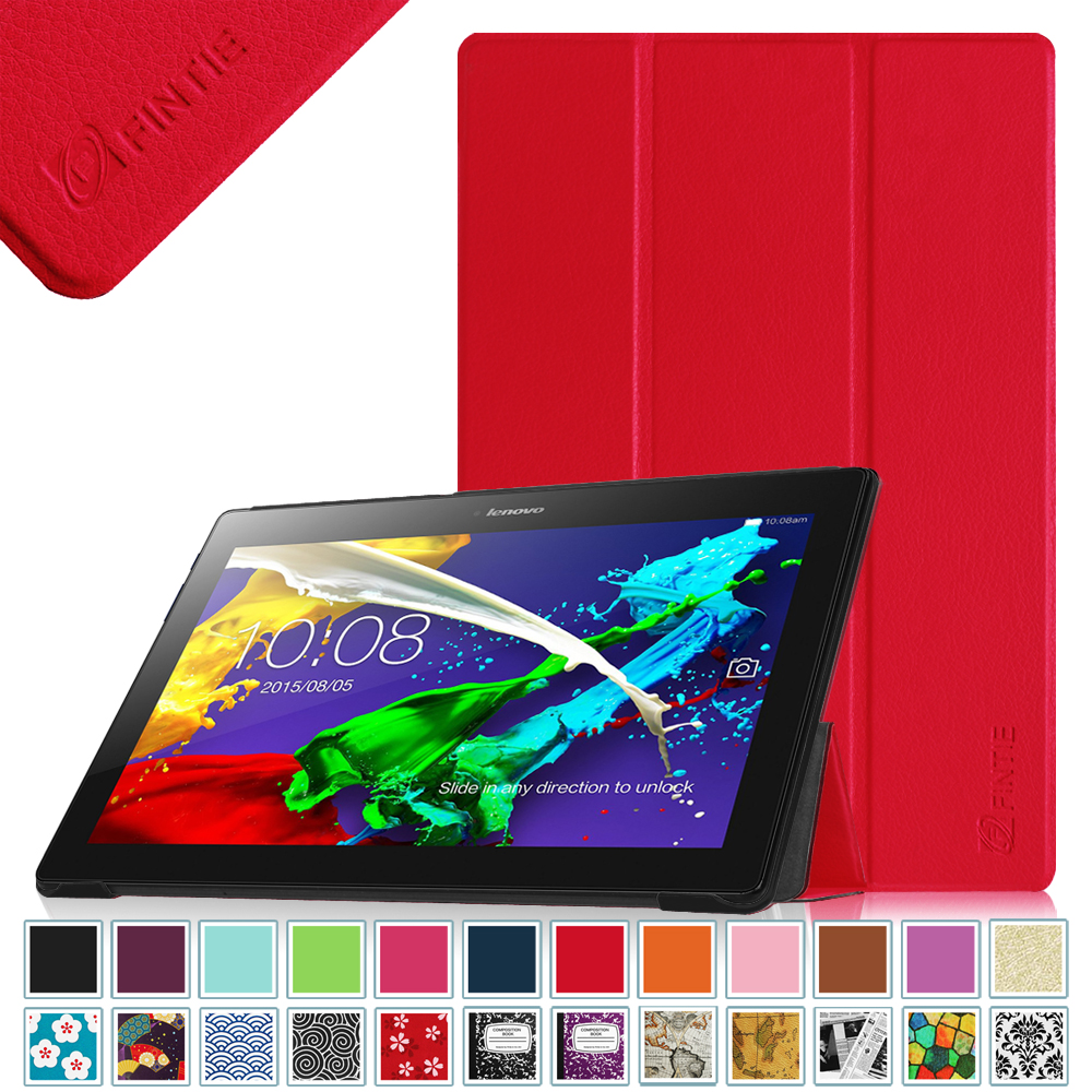 Fintie Lenovo Tab 2 A10 / Tab 3 10 Business 10.1 Inch Tablet Case Smart Shell Cover with Auto Sleep/Wake, Red