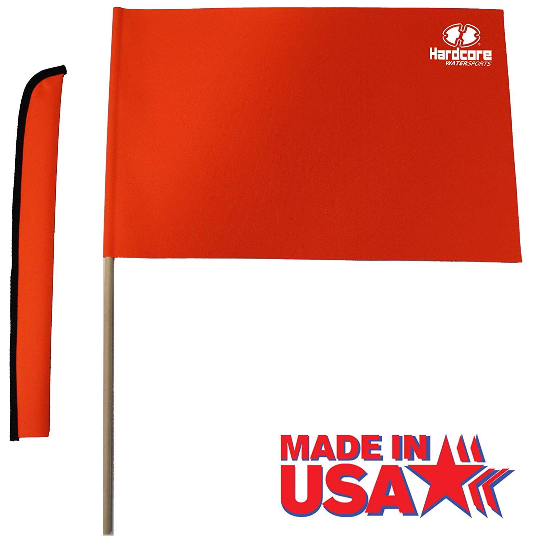Orange Water Ski Flag by Includes storage sheath By Hardcore Water Sports by