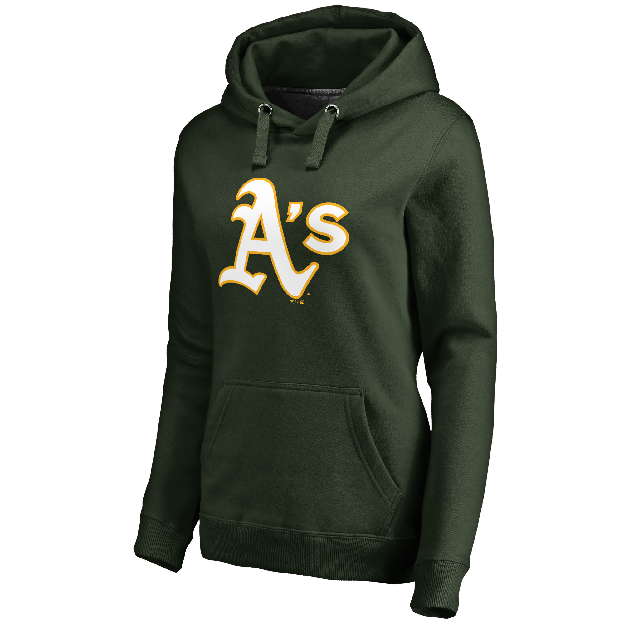 Oakland Athletics Women's Team Color Primary Logo Pullover Hoodie - Green