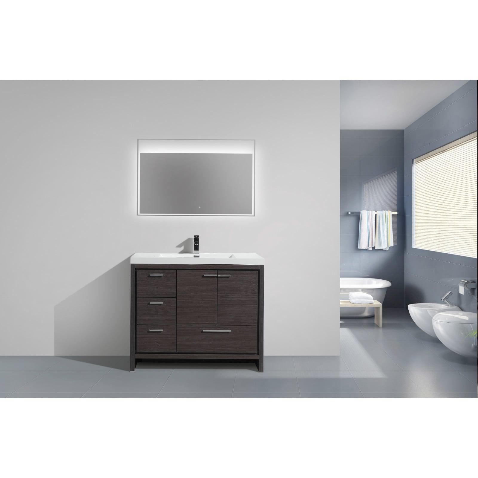 Moreno Bath Mod 42 Inch Free Standing Modern Bathroom Vanity With