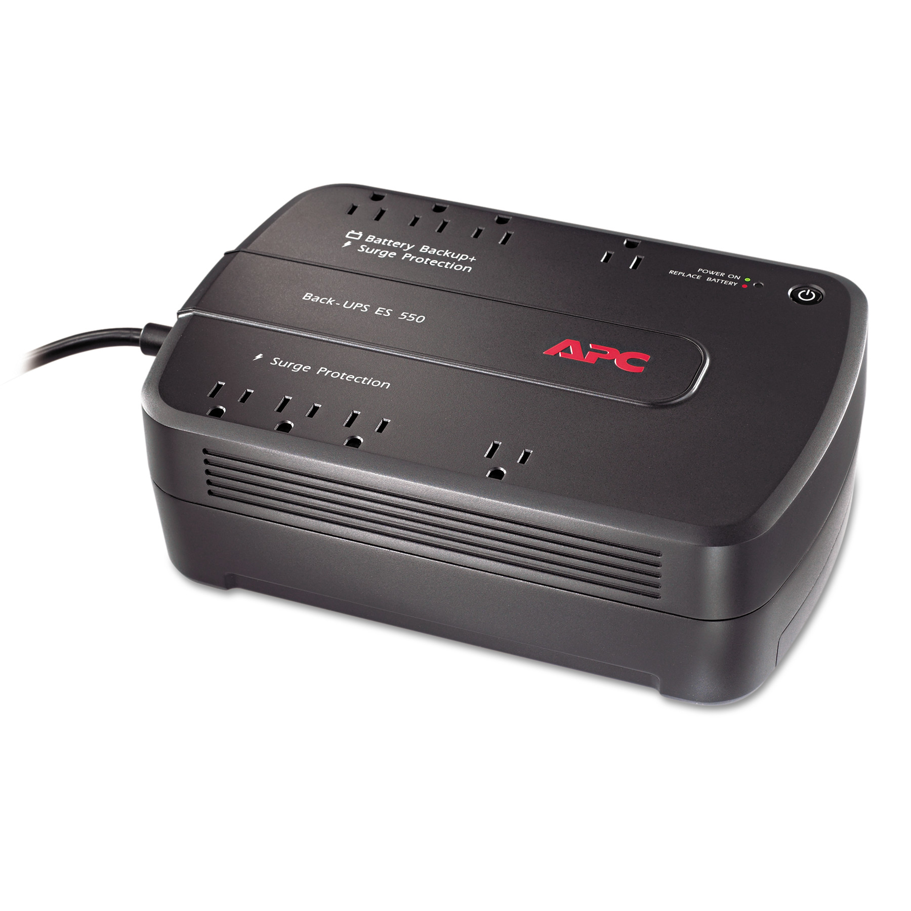 APC BE550G Back-UPS ES 550 Battery Backup System, 8 Outle...