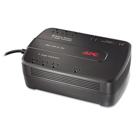APC BE550G Back-UPS ES 550 Battery Backup System, 8 Outlets, 550VA, 365