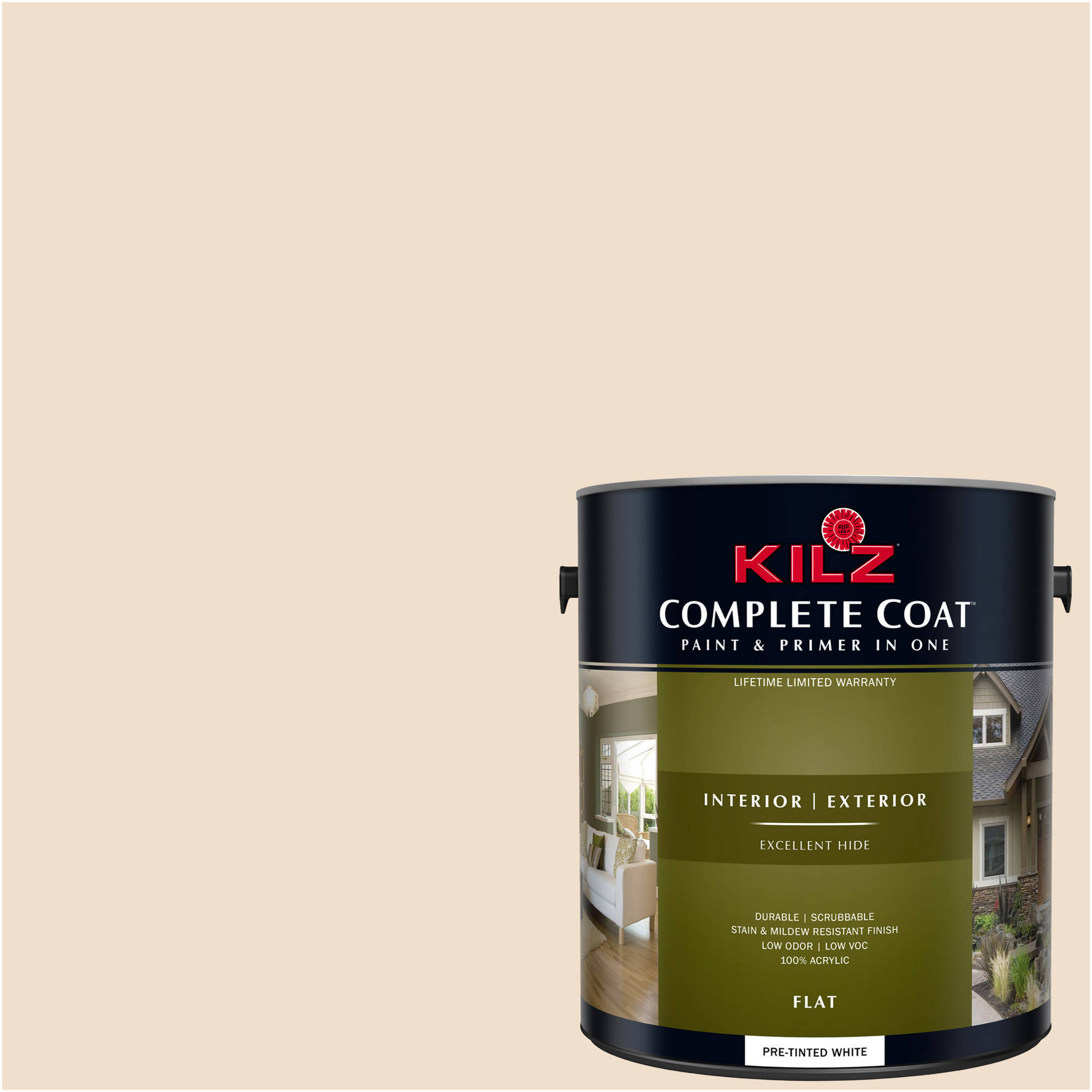 KILZ COMPLETE COAT Interior/Exterior Paint & Primer in One #LJ120 Sugar Beige