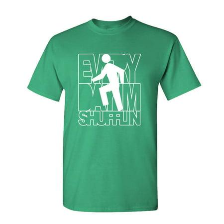 - EVERY DAY I'M SHUFFLIN - rock party dance music - Cotton Unisex T-Shirt