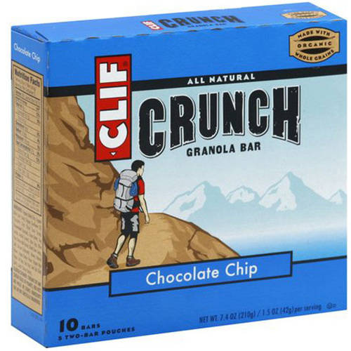 Clif Crunch Chocolate Chip Granola Bar, 7.4 oz, (Pack of 6)
