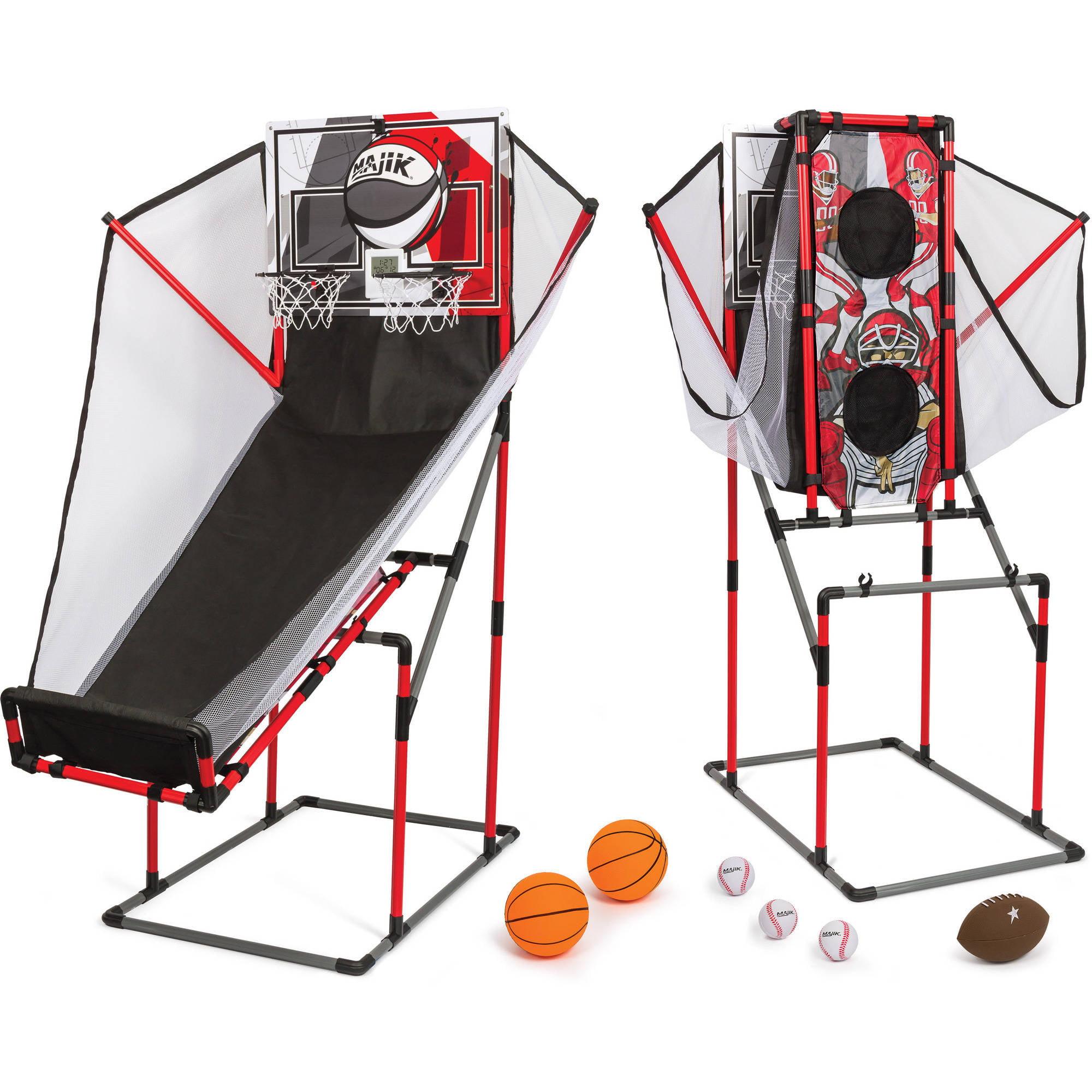 Majik 3-in-1 Arcade Sport Center, Basketball, Football, & Baseball by Eastpoint Sports