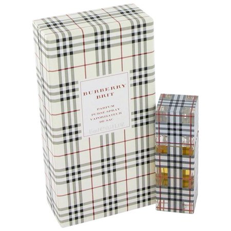 BURBERRY BRIT .5 oz Pure Parfum Purse Spray New Perfume 15 ml Burberry's NIB ()