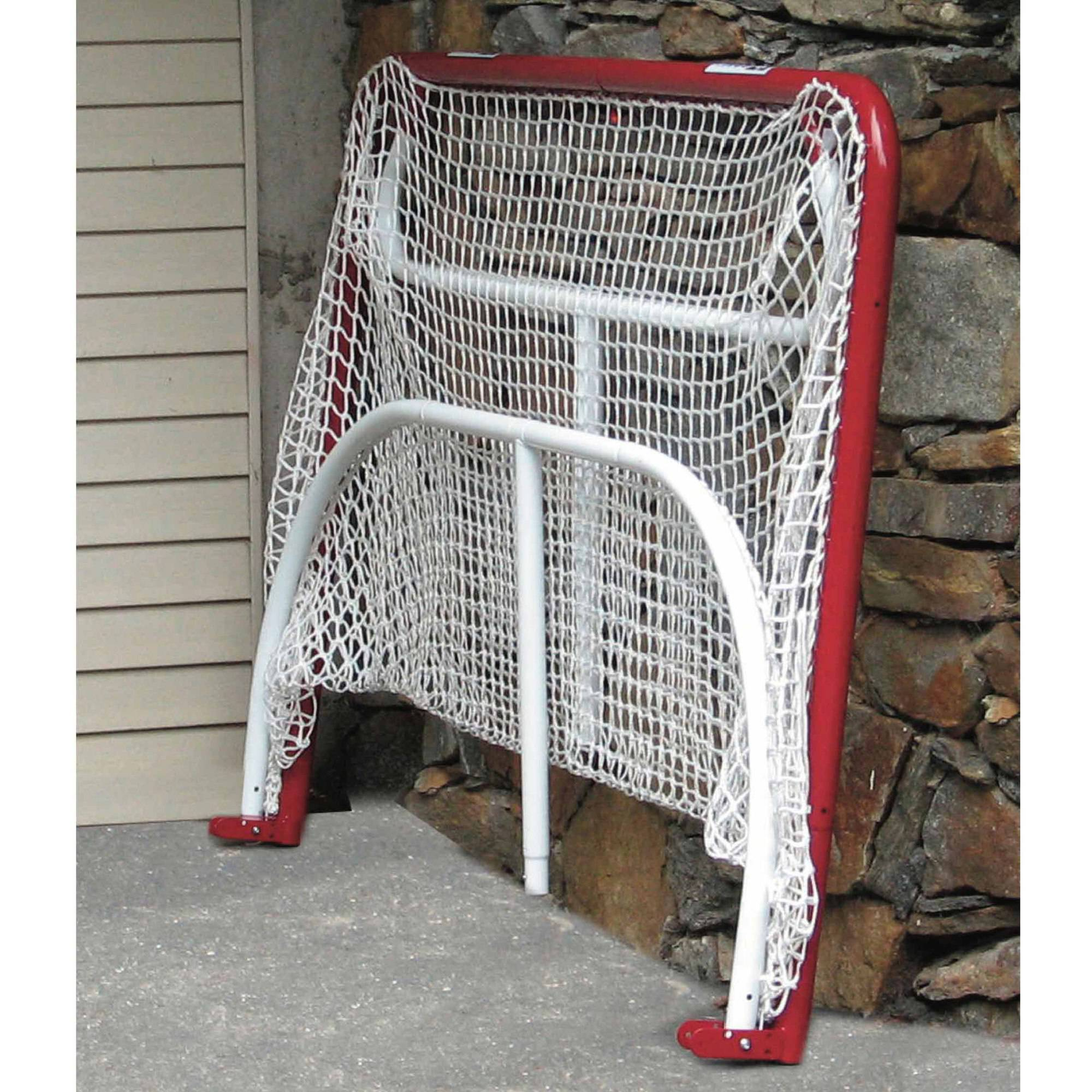 "EZgoal Monster 6' x 4'2"" Steel Tube Official Regulation Folding Metal Hockey Goal Net with 4 Net Pocket Targets"