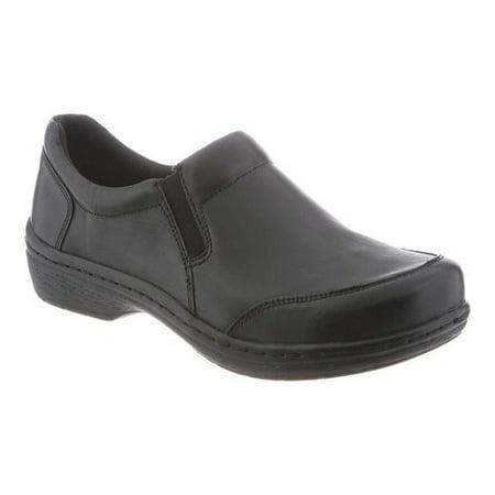 Klogs Arbor Men's Leather Professional Clog - Black Smooth