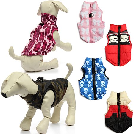 Dog Pet Products Padded Vest Jacket Puppy Harness Soft Coat Clothes Apparel