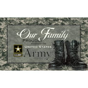 "Turner U.S. Army ""Our Family"" Floor Mat"