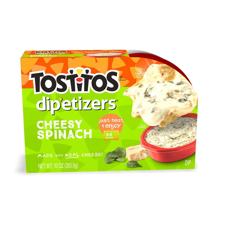 Tostitos Dip Etizers Cheesy Spinach Artichoke Dip 10 Oz Walmart Com Walmart Com