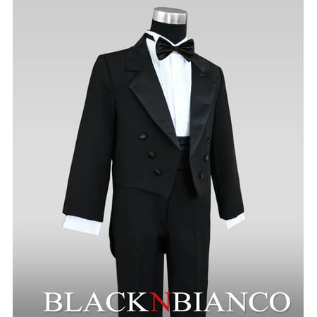 Boys Black Tuxedo with Tail Outfit Set - Tux With Tails