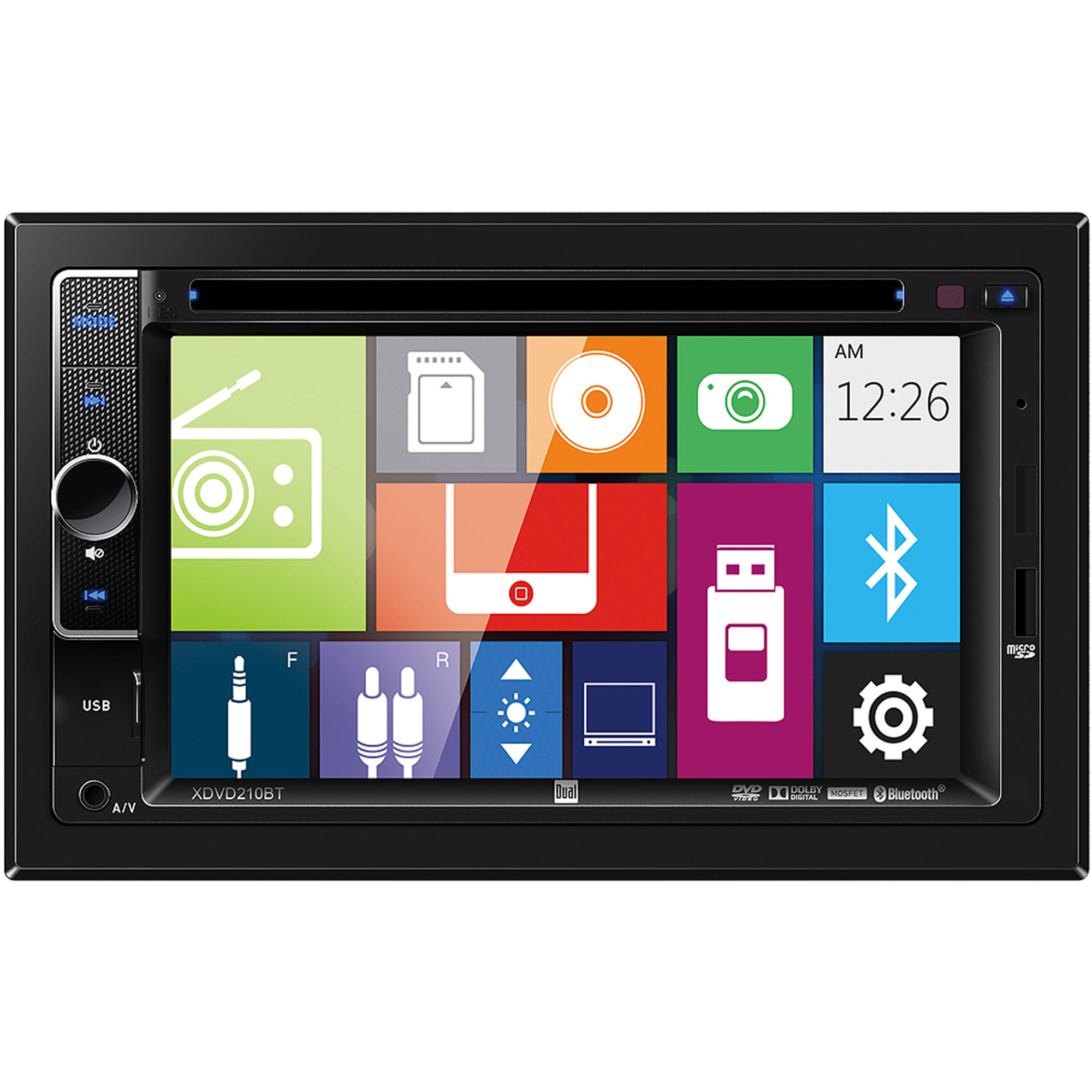 """Dual XDVD210BT 6.2"""" Multimedia DVD Receiver with Bluetooth"""