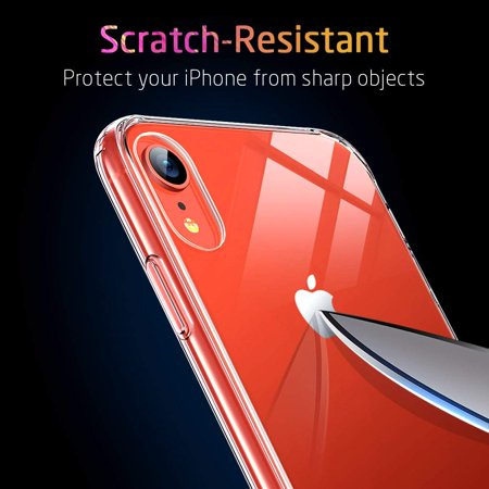 Mimic Series Glass Case for iPhone XR, by ESR 9H Tempered Glass Back Cover Scratch Resistant, Soft Silicone Bumper Shock Absorption , Clear/Red Blue Crystal - image 8 de 9