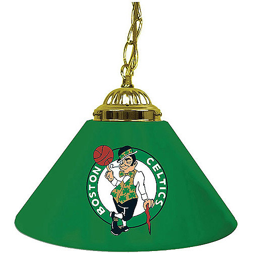"Trademark Global Boston Celtics NBA 14"" Single Shade Bar Lamp"