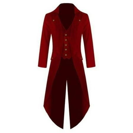 V-neck Men Slim Party Jacket Vintange Coat with Buttons ()