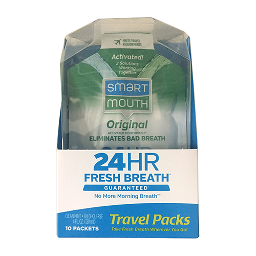 Smartmouth 24 Hours Original Mouthwash Packets, Fresh Breath - 10 Ea, 2 Pack