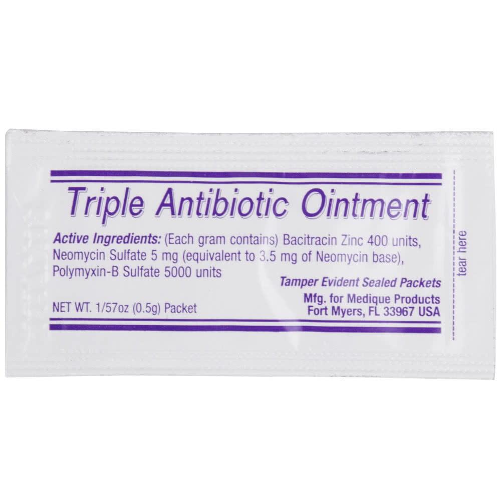 Medi-First Triple Antibiotic Ointment .5 gram - Pack of 10 - Walmart.com -  Walmart.com
