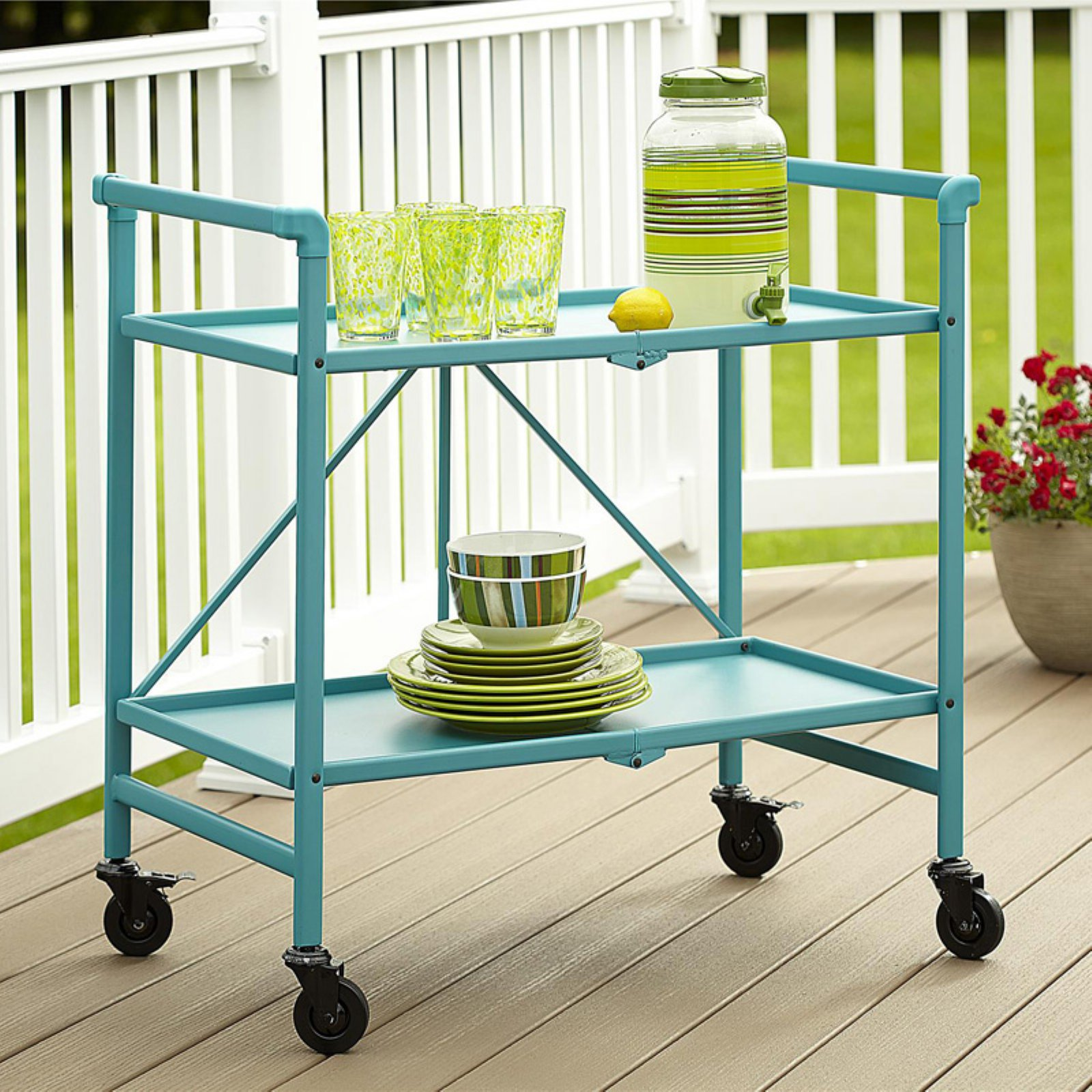 Cosco Folding Serving Cart, Multiple Colors by Cosco