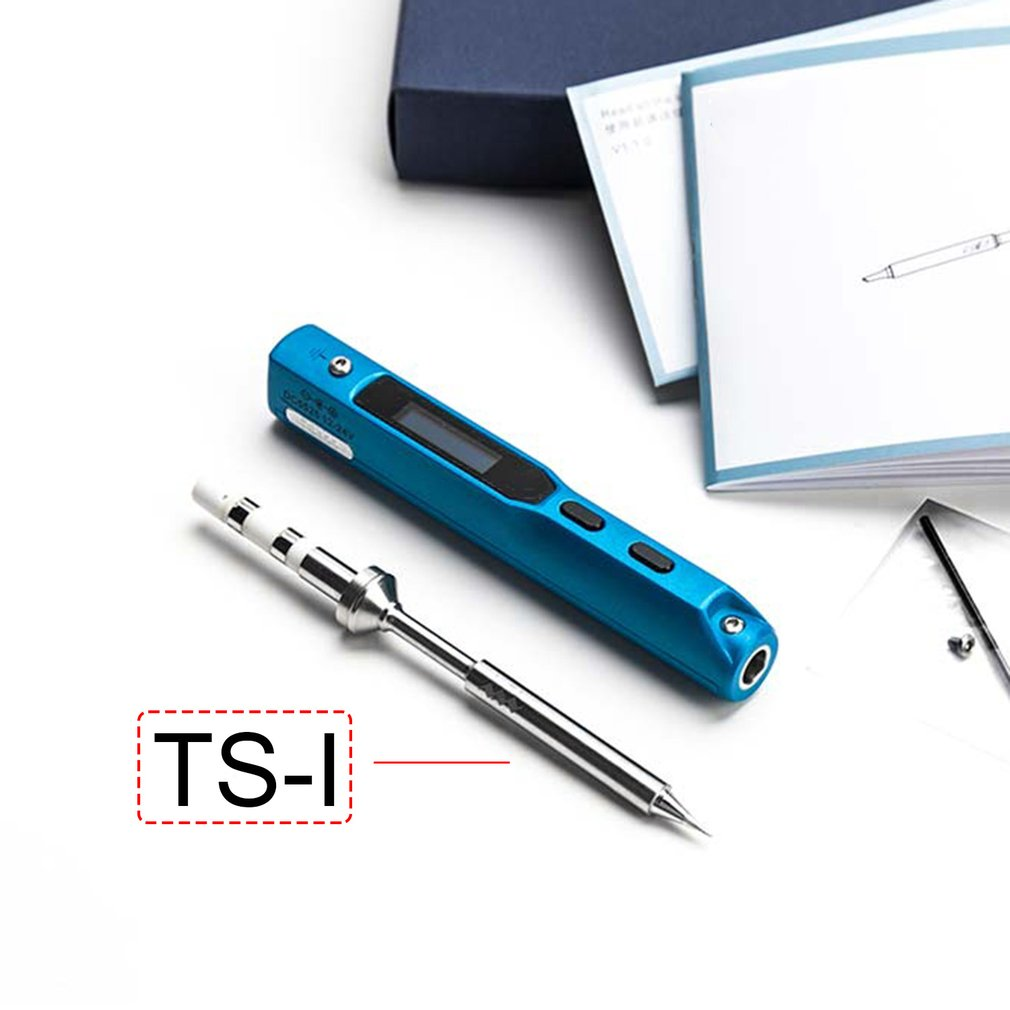 Electric Iron Ts100 Mini Portable Smart Programmable Electric Soldering Iron Original Tip