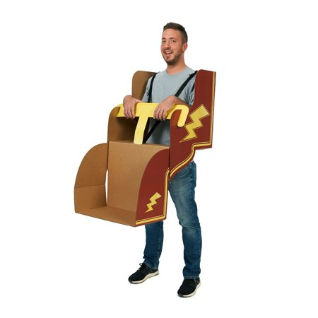 Roller Coaster DIY Cardboard Costume](Halloween Roller Coaster)