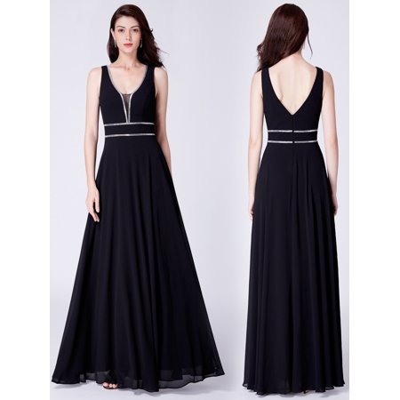 Ever-pretty - Ever-Pretty Women s Elegant Long Black Evening Cocktail Night Party  Formal Dresses for Women 07442 US 4 - Walmart.com 975a698a2