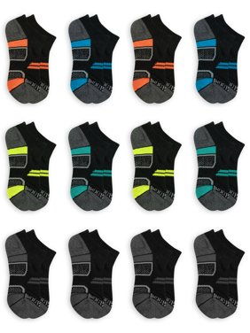 Fruit of the Loom Boys Socks,12 Pack No Show Active Sizes M - L