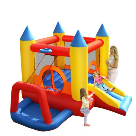 Costway Inflatable Mighty Bounce House Jumper Castle Moonwalk Without