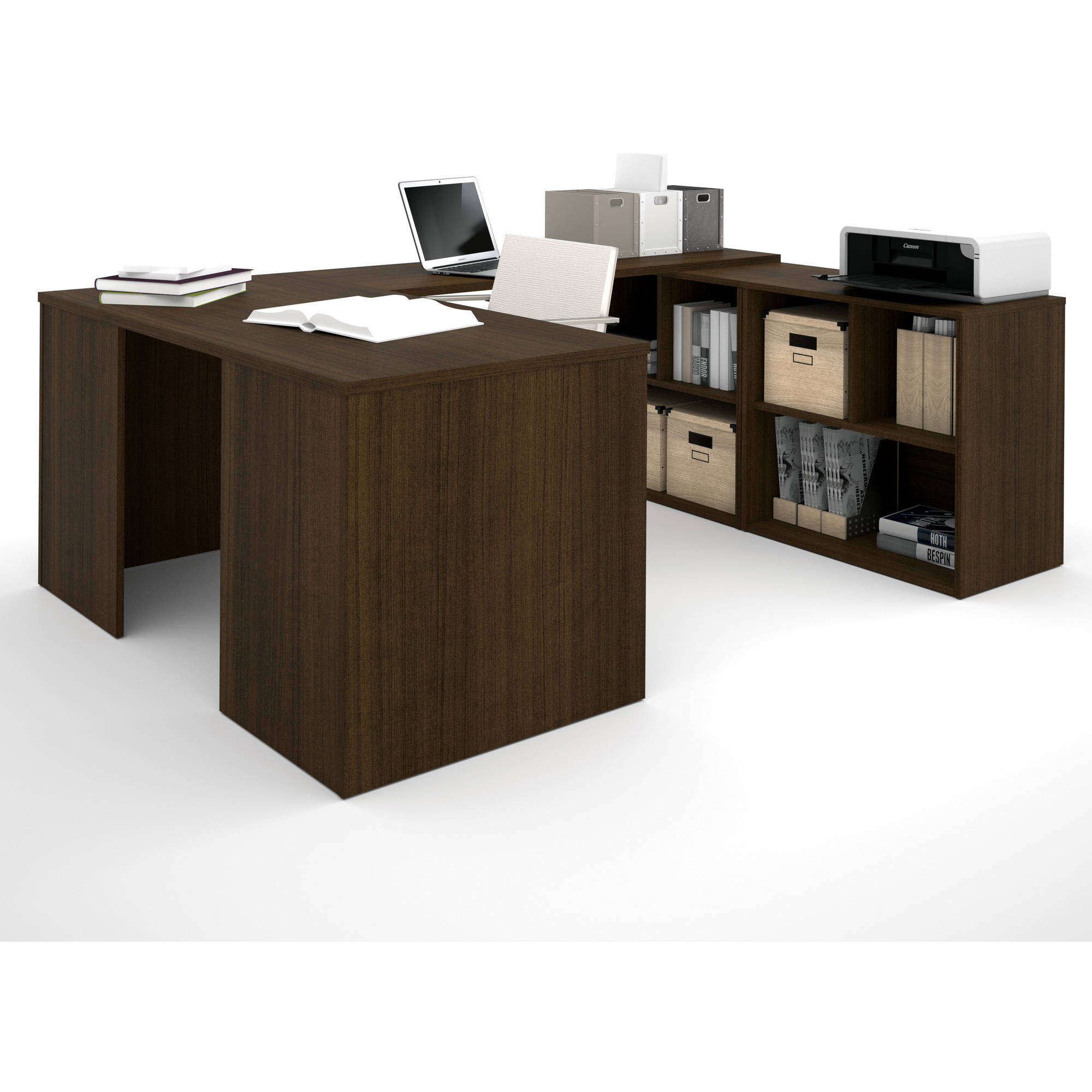 Bestar i3 by Bestar U-Shaped Desk, Tuxedo
