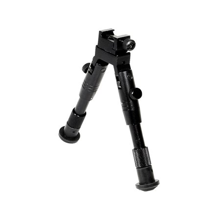 Picatinny Swivel Bipod Mount Rubber Feet 6.2-6.7 Height Foregrip  - (Pod Black Ice)