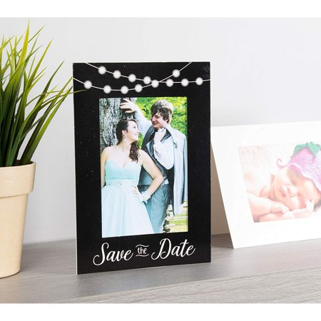Save the Date Photo Insert Notecards - 48 Pack Picture Frame Notecards. Perfect for Wedding, Engagement, Anniversary, Baby Shower Invitation. Holds 4 x 6 Insert. Printed inside with fill in