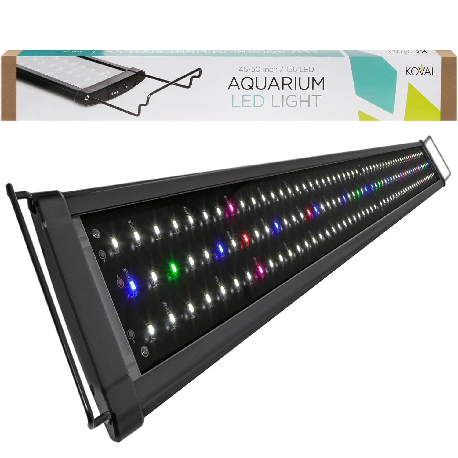 Koval Inc. 156 LED Aquarium Lighting for 45 inch - 50 inch Fish Tank Light Hood