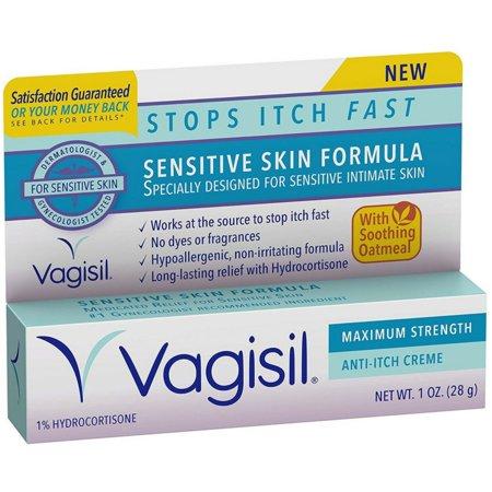 3 Pack - Vagisil Maximum Strength Anti-Itch Creme, Sensitive Skin Formula 1 oz