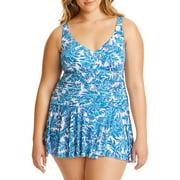 264fe737854 Women s Plus-Size Slimming Tie-Dye Shirred One-Piece Swimsuit - Best ...